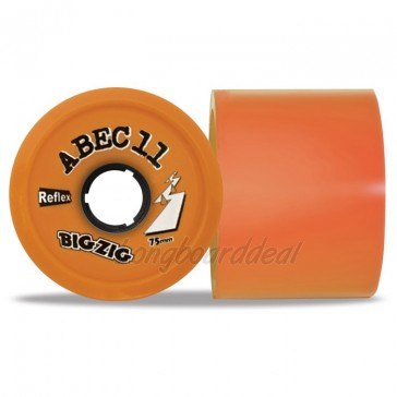 ABEC 11 BigZigs 75mm 86a Orange longboard wielen