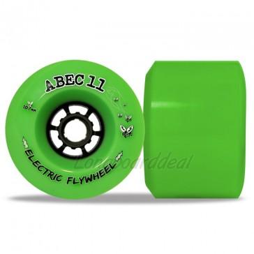 ABEC 11 Electric Flywheels 107mm 80a Lime longboard wielen