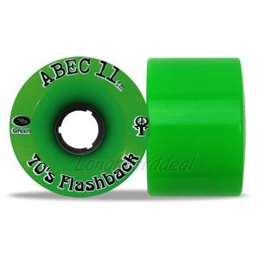 ABEC 11 Flashbacks 70mm longboard wielen