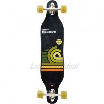 "Arbor Axis Artist-Draplin 37"" drop-through longboard complete"