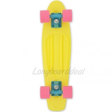 "Baby Miller Ice Lolly Lemon Yellow 22"" cruiser skateboard"