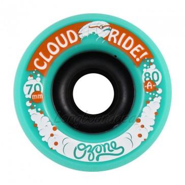 Cloud Ride Ozone 70mm 80a Green longboard wielen