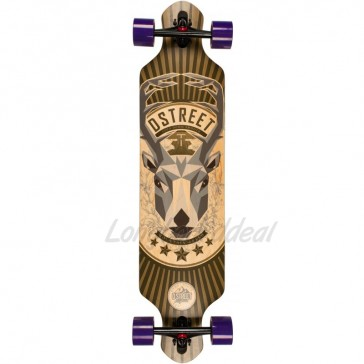 "D-Street Drop Through Stag 39"" longboard complete"