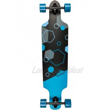 "D-Street Polygon Hex Drop Through 37.5"" longboard complete"