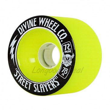 Devine Street Slayers Thunder Green 72mm 78a longboard wielen