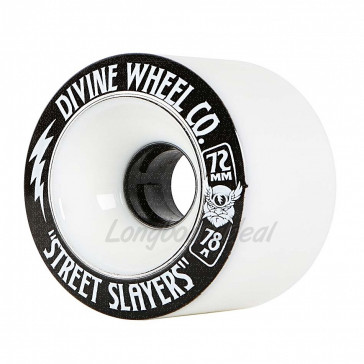 Devine Street Slayers Thunder White 72mm 78a longboard wielen