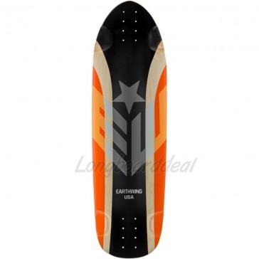 "Earthwing Big Hoopty Black-Orange 36.75"" longboard deck"