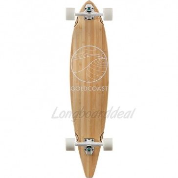 "Goldcoast Classic Bamboo 40"" pintail longboard complete"
