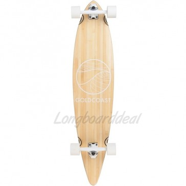 """Goldcoast Classic Bamboo Floater 44"""" pintail longboard complete"""
