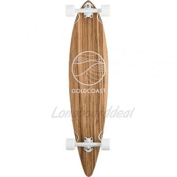 "Goldcoast Classic Zebra 44"" pintail longboard complete"