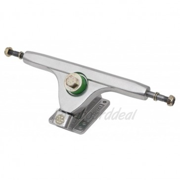 "Gunmetal Double Barrel V2 42-Degree 10"" longboard trucks"