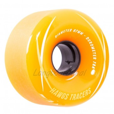 Hawgs Tracers Orange 67mm 78a longboard wielen