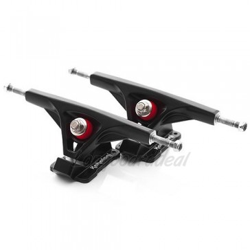 Kahalani Cast Precision V2 Black 180mm 50° longboard trucks