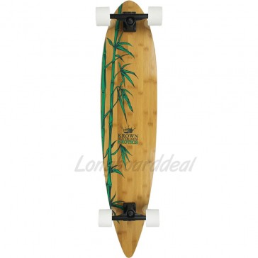 "Krown Exotics Nature Bamboo 43"" pintail longboard complete"