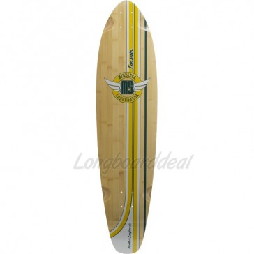 "Mindless Corsair Yellow-Green 38.25"" kicktail longboard deck"