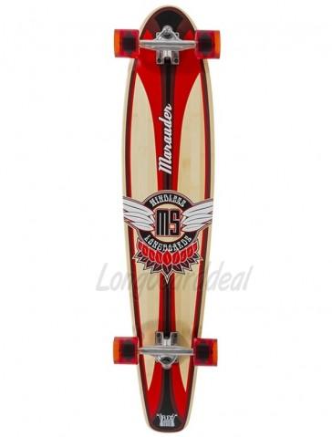 "Mindless Marauder II Orange 42.5"" kicktail longboard complete"