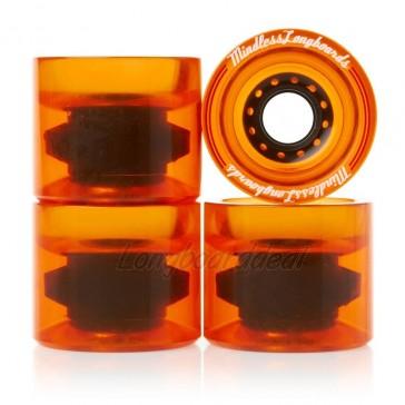 Mindless Outlaws Orange 68mm 83a longboard wielen