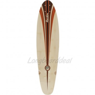 "Mindless Raider III Brown 34"" kicktail longboard deck"