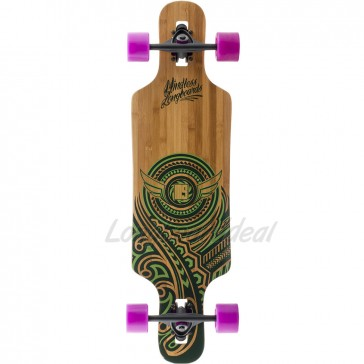 "Mindless Raven II Green 34"" drop-through longboard complete"