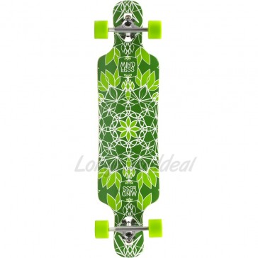 "Mindless Sanke III Green 39"" drop-through longboard complete"