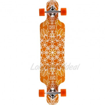 "Mindless Sanke III Orange 39"" drop-through longboard complete"