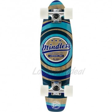 "Mindless Stained Daily II Blue 24"" mini cruiser complete"