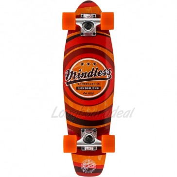 """Mindless Stained Daily II Orange 24"""" mini cruiser complete"""