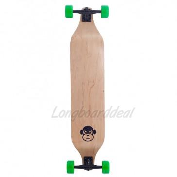 """Moose Monkey Drop Down Green 40"""" longboard complete"""