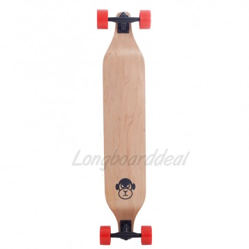 "Moose Monkey Drop Down Orange 40"" longboard complete"