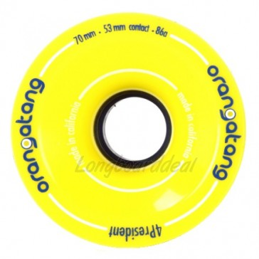 Orangatang 4President 70mm 86a Yellow longboard wielen