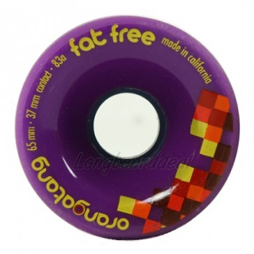 Orangatang Fat Free 65mm 83a Purple longboard wielen