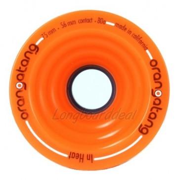Orangatang In Heat 75mm 80a Orange longboard wielen