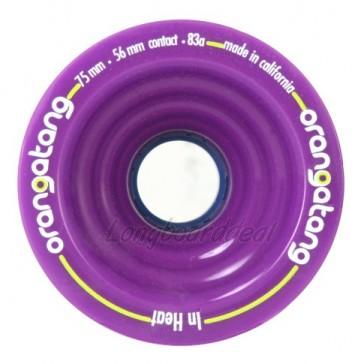 Orangatang In Heat 75mm 83a Purple longboard wielen