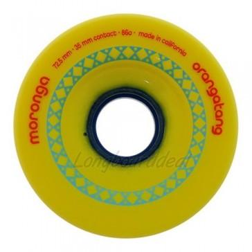 Orangatang Moronga 72.5mm 86a Yellow longboard wielen