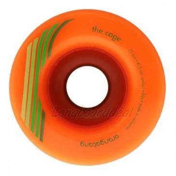 Orangatang The Cage 73mm 80a Orange longboard wielen