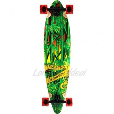 "Paradise Rasta Bamboo III 41"" pintail longboard complete"