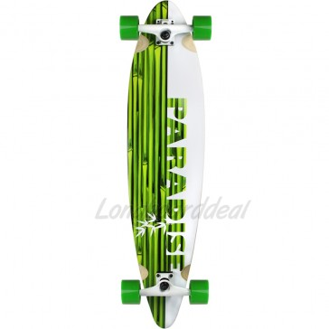 "Paradise White Bamboo 41"" pintail longboard complete"