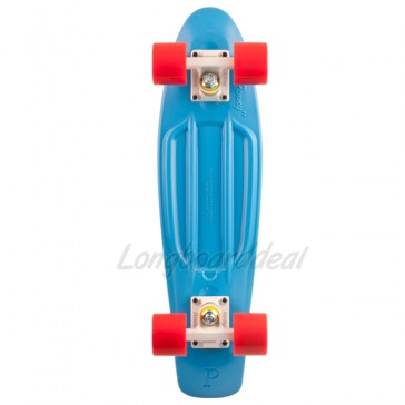 "Penny Original Cyan Red 22"" retro skateboard complete"