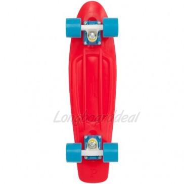 """Penny Original Red Blue 22"""" retro skateboard complete"""