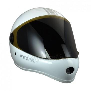 Predator DH-6 Performance downhill helmet White Silver-Stripe