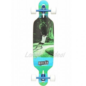 "Riviera Escape 38"" drop-through longboard complete"