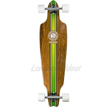 "Saterno Forest Stripe 38"" drop-through longboard complete"