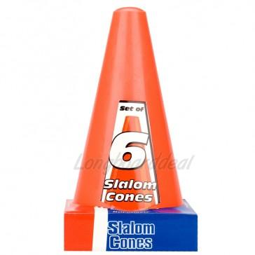 Orange Slalom Cones 18cm set of 6