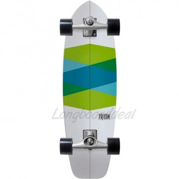 """Triton Green Glass 32.5"""" surfskate complete"""