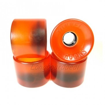 Tunnel Rocks Amber 63mm Longboard wielen (82a)