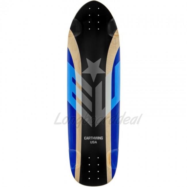 Earthwing hoopty black blue quot longboard deck