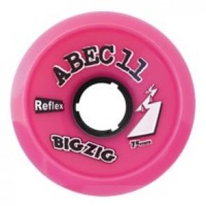 ABEC 11 BigZigs 75mm 77a Pink longboard wielen