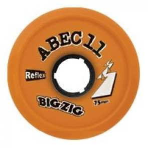 ABEC 11 BigZigs 75mm 86a Orange longboard wielen