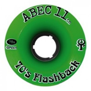 ABEC 11 Flashbacks 70mm longboard wielen