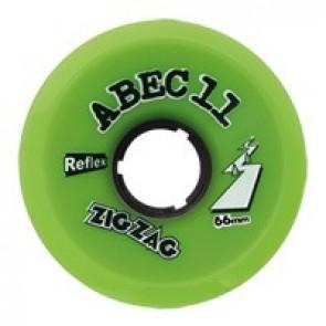 ABEC 11 ZigZags 66mm 80a Lime longboard wielen
